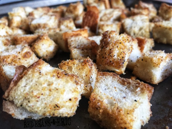 Creole Croutons for Soups and Salads