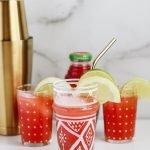 Spiced Wonder Melon Vodka Punch Cocktail Recipe