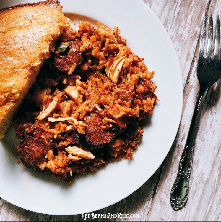 Plate of jambalaya by Red Beans & Eric.
