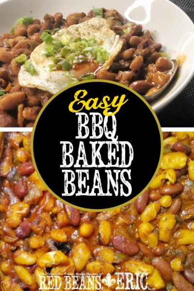 Easy BBQ Baked Beans by Red Beans and Eric