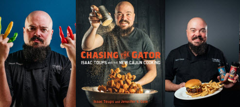 Chef Isaac Toups line of hot sauces, spices, and cookbook