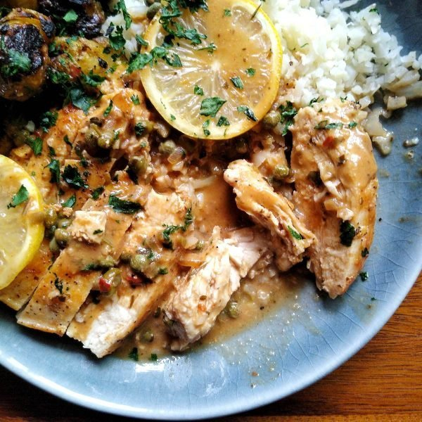 Lemon Chicken Piccata by Red Beans and Eric