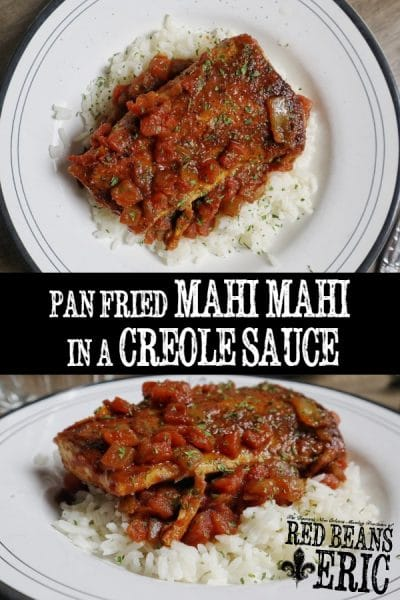 Mahi mahi pan-fried then simmered in a spicy tomato-based Creole sauce that packs a punch. This recipe is flavorful, filling, and easy to prepare.