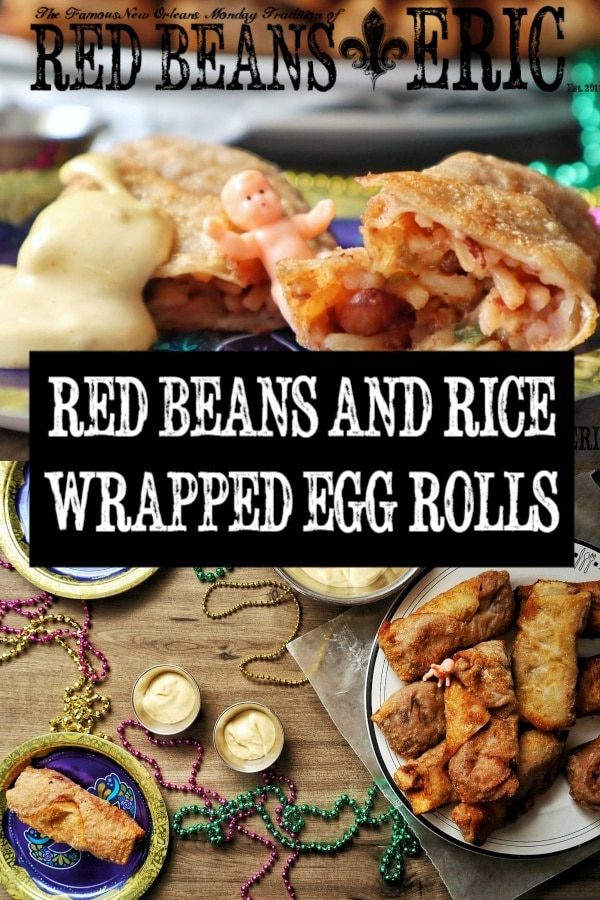 Crispy Red Beans and Rice Egg Rolls