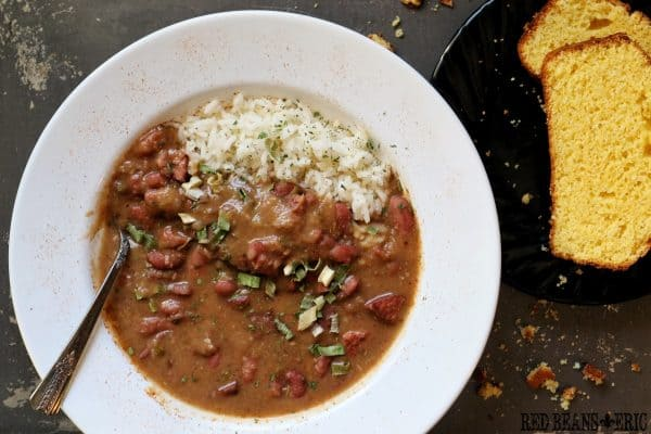 Plate of Monday Red Beans and Rice by Red Beans and Eric
