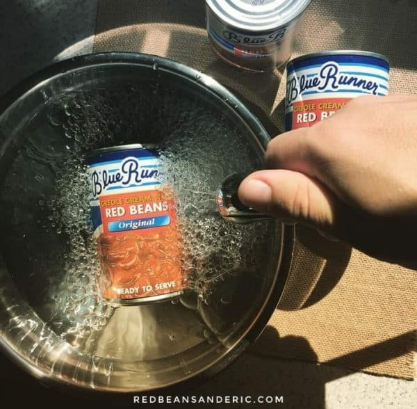 JOKE: Blue Runner canned red beans beans soaked in water